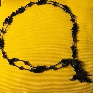 Beautiful Long Necklace ~ Dark brown
